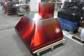 Custom range hood stainless steel cutting_72
