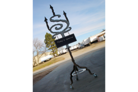 Custom welded metal stand_72_7in
