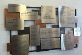 Donor recognition board copper metal stainless sign_72_7in
