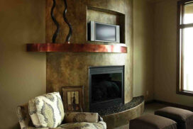metal fireplace mantle_72_7in
