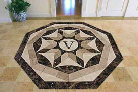 waterjet cut marble floor inlay_72